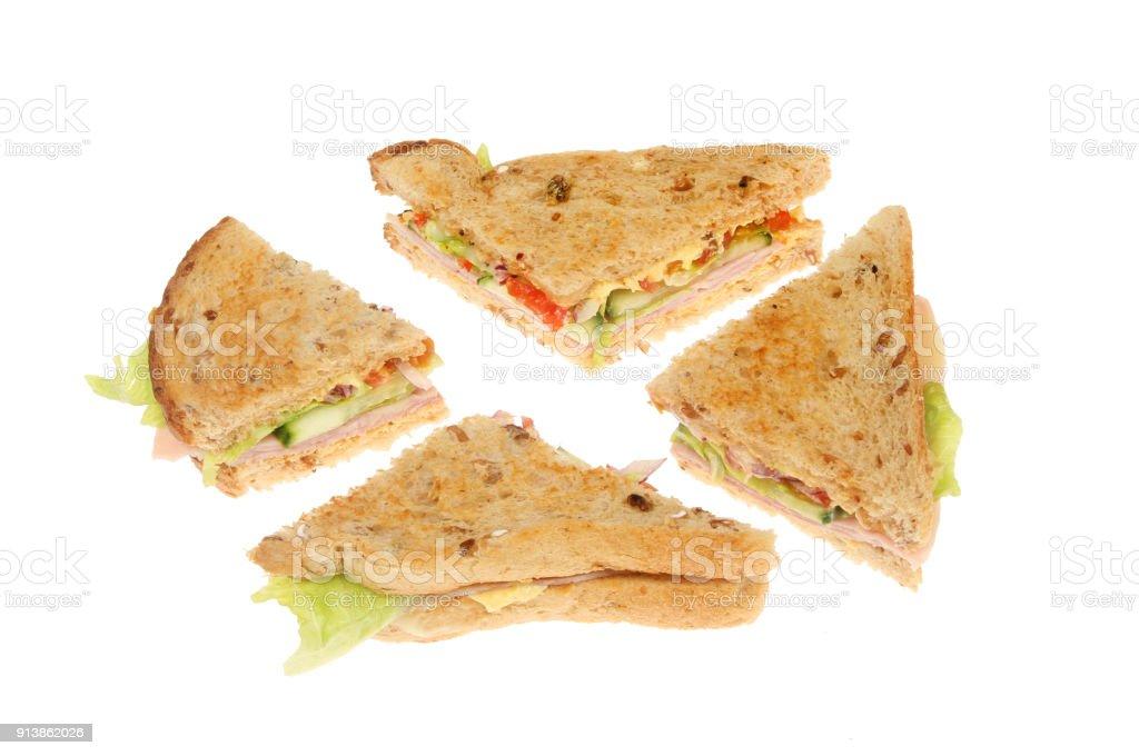 Sandwich quarters stock photo