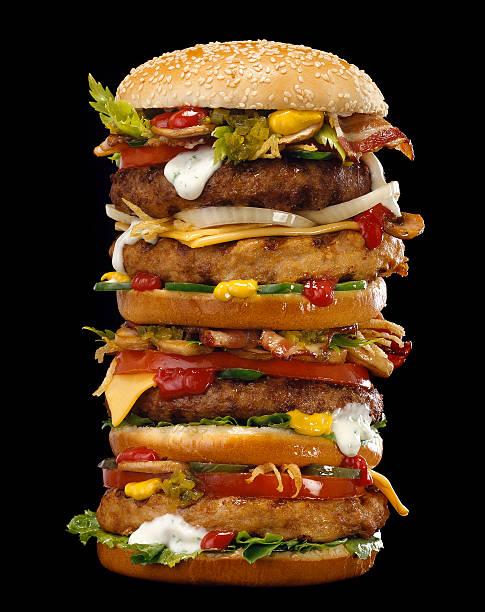 гамбургер - burger and chicken стоковые фото и изображения