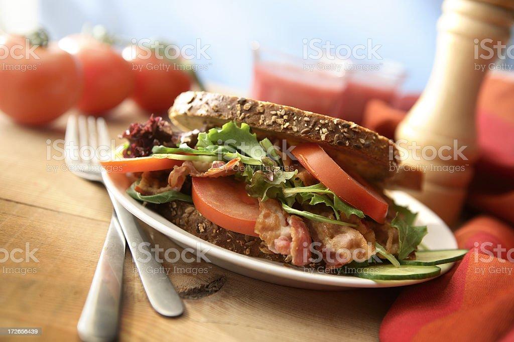 Sandwich Stills: Bacon, Lettuce and Tomato BLT royalty-free stock photo