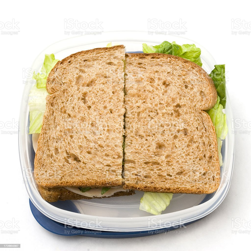 Sandwich to go with clipping path royalty-free stock photo