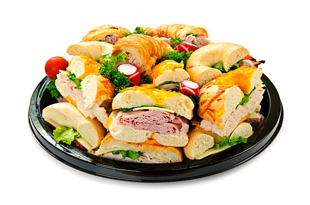 Sandwich tray stock photo