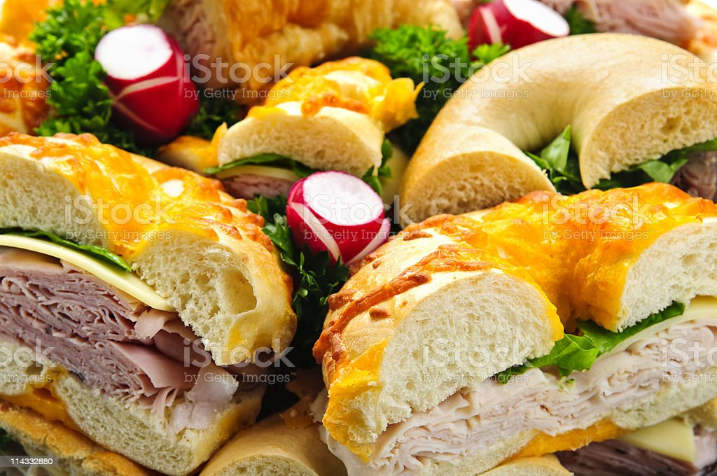 Sandwich tray royalty-free stock photo