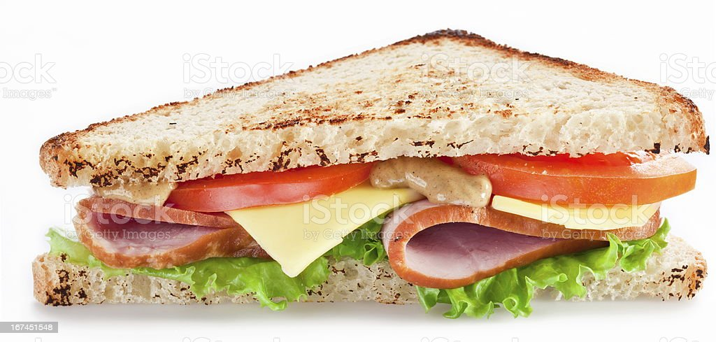 Sandwich with bacon royalty-free stock photo