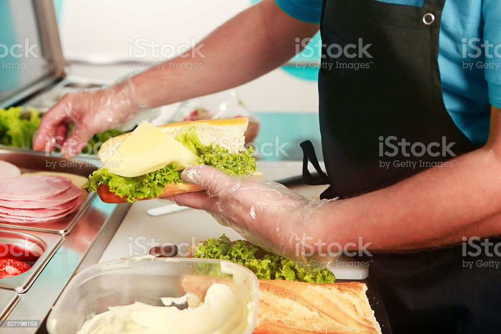 sandwich with cheese stock photo