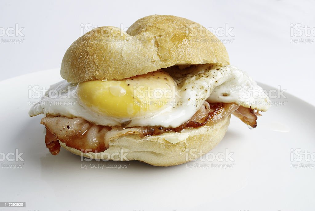 Sandwich with egg and bacon stock photo
