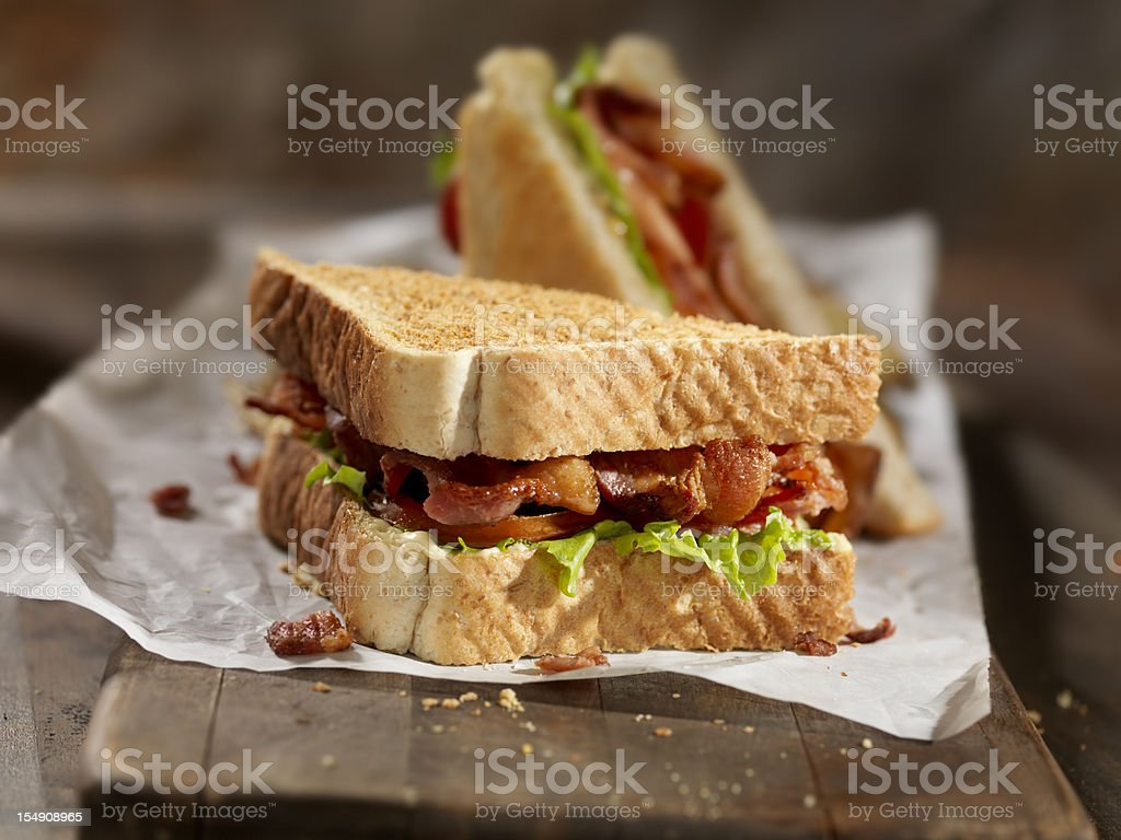 BLT Sandwich with French Fries royalty-free stock photo