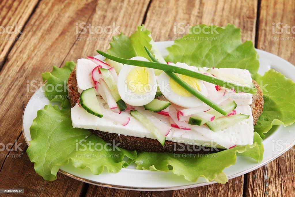 sandwich mit frischem Gemüse Lizenzfreies stock-foto