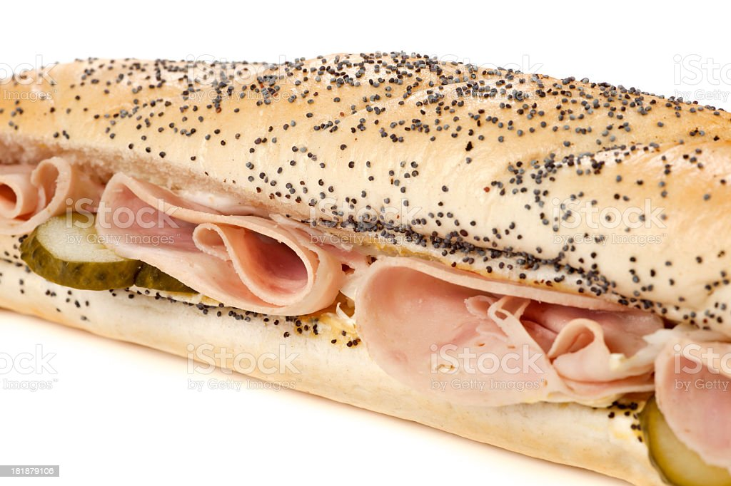 Sandwich with ham royalty-free stock photo