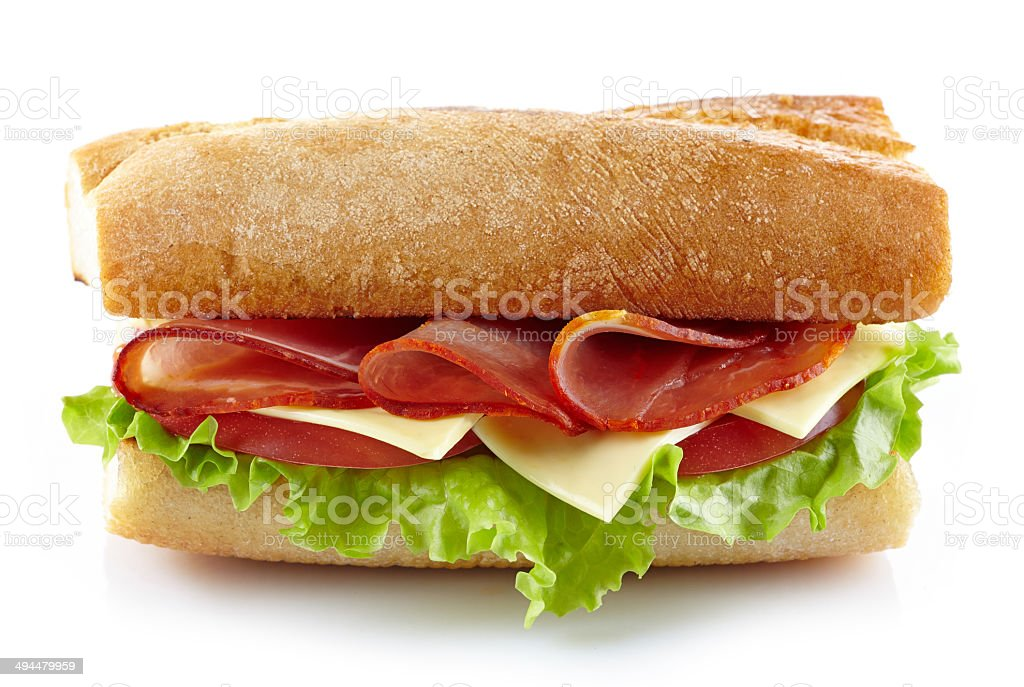 Sandwich with meat and vegetables royalty-free stock photo