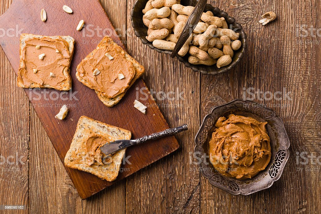 Sandwich with peanut butter royalty-free stock photo
