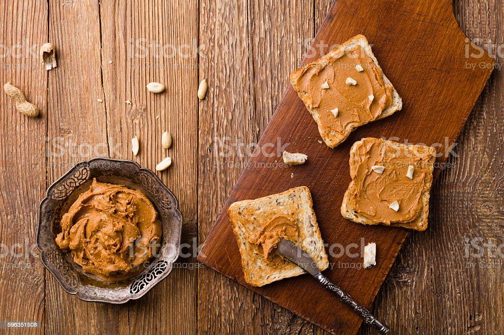 Sandwich mit Erdnussbutter  Lizenzfreies stock-foto