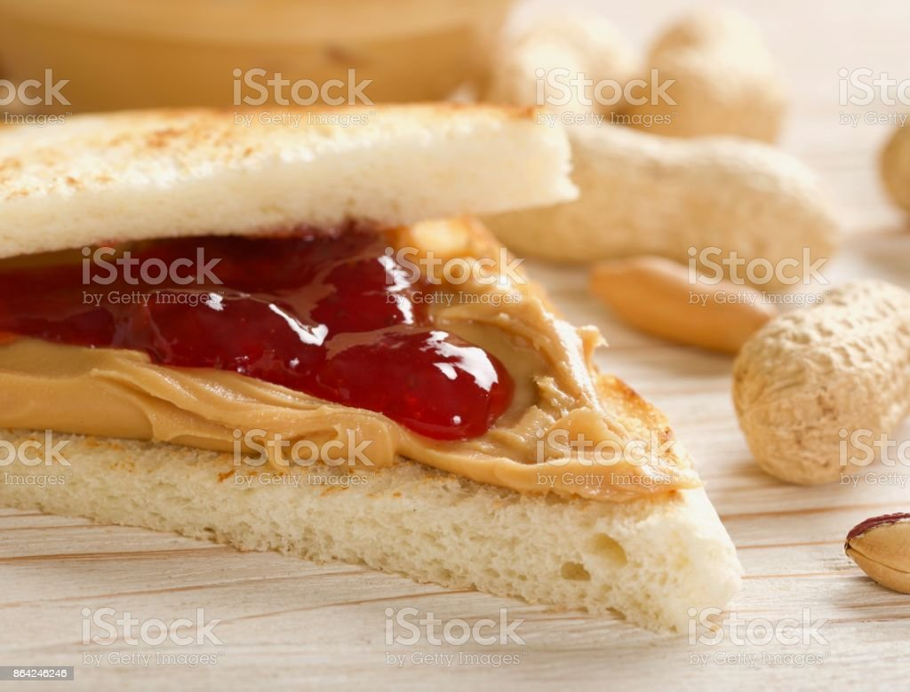 sandwich with peanuts butter royalty-free stock photo