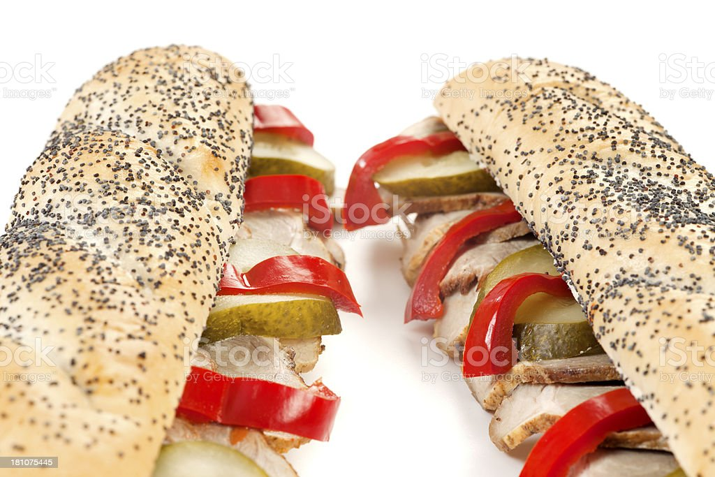 Sandwich with pork meat royalty-free stock photo