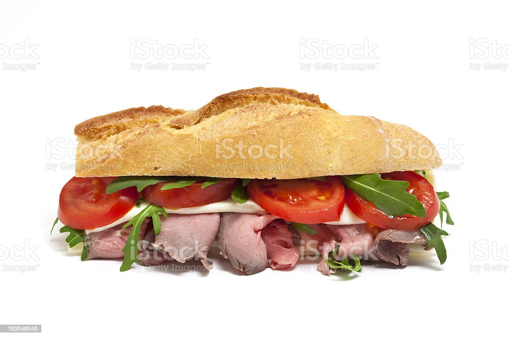 sandwich with roastbeef royalty-free stock photo