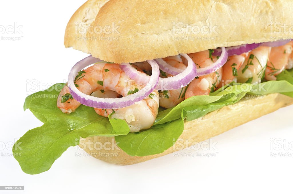 Sandwich with shrimps royalty-free stock photo
