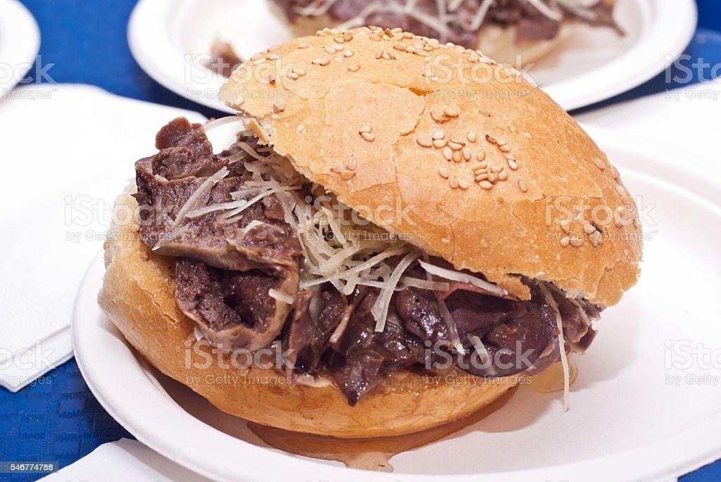 Sandwich with spleen - foto de stock