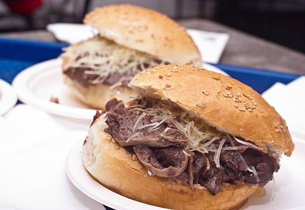 Sandwich with spleen - foto stock