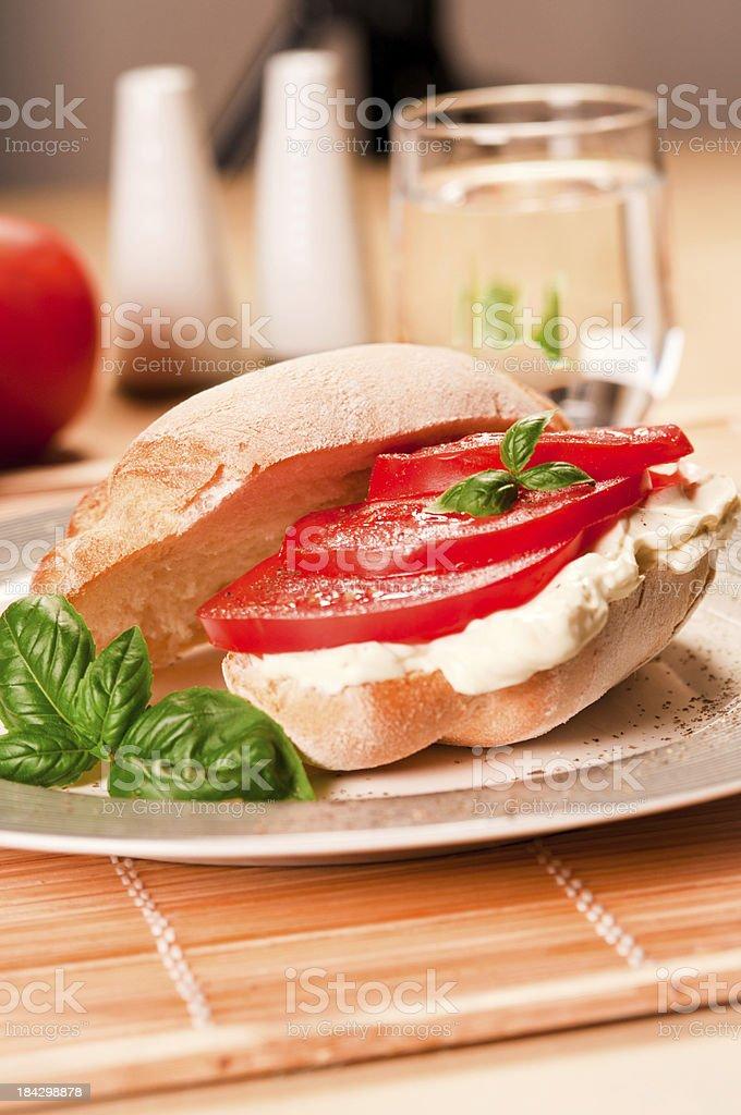 Kanapka z pomidora zbiór zdjęć royalty-free