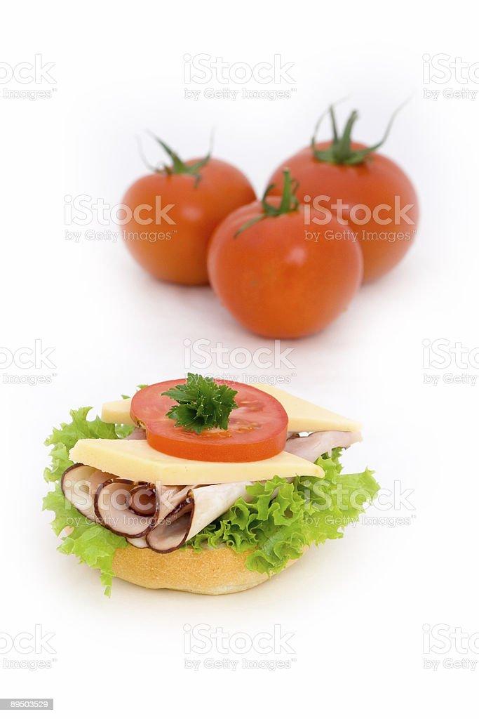 Sandwich avec tomatos photo libre de droits