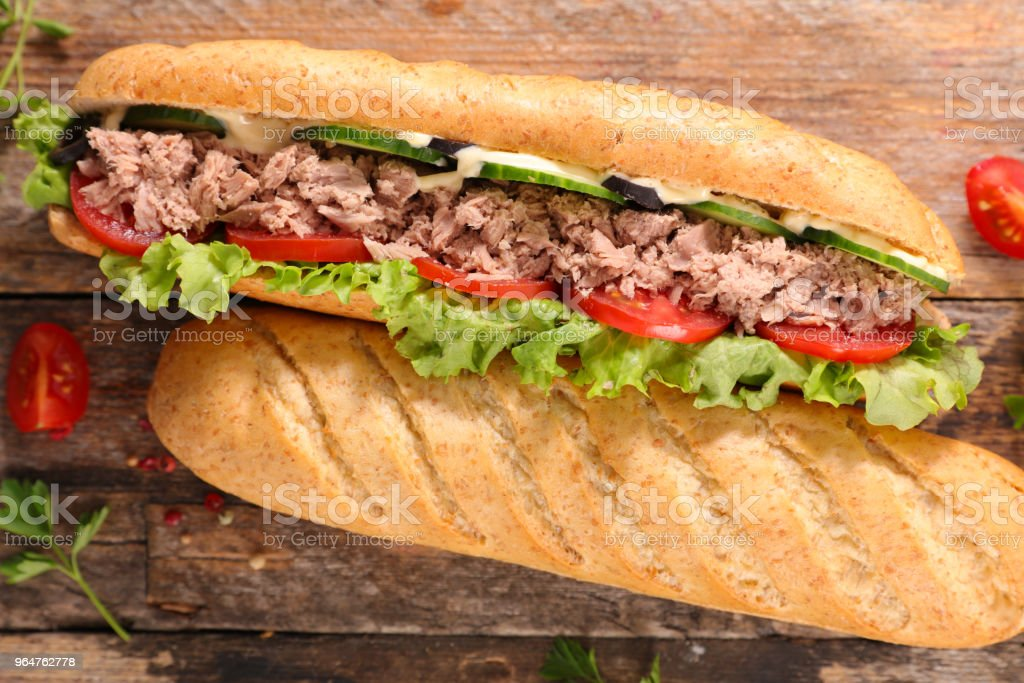 sandwich with vegetable and tuna royalty-free stock photo