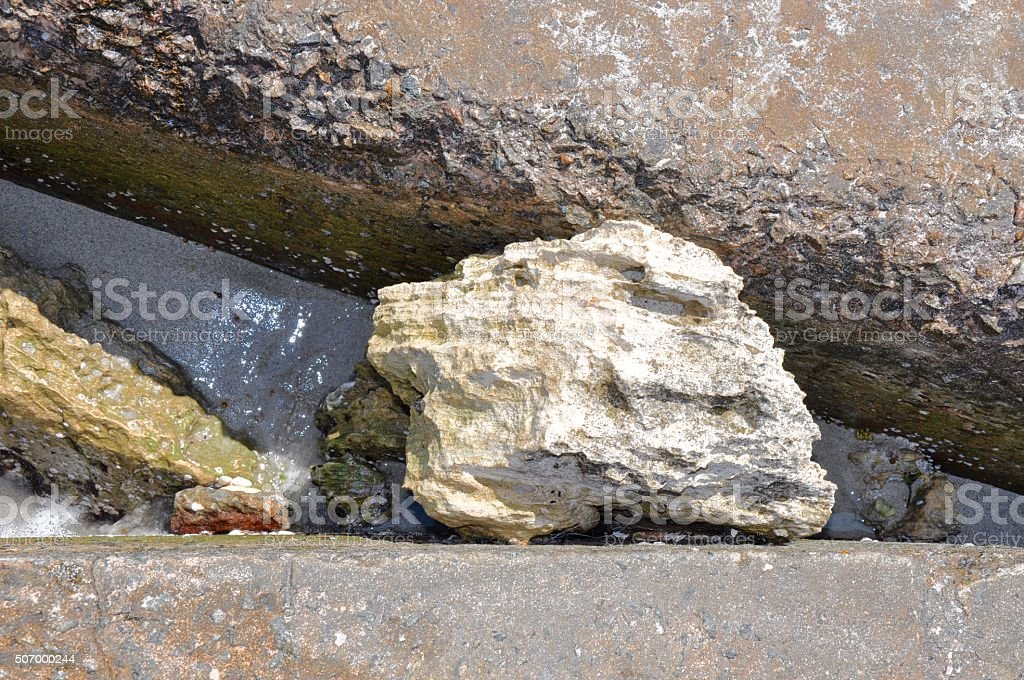 Sandwiched Rock stock photo