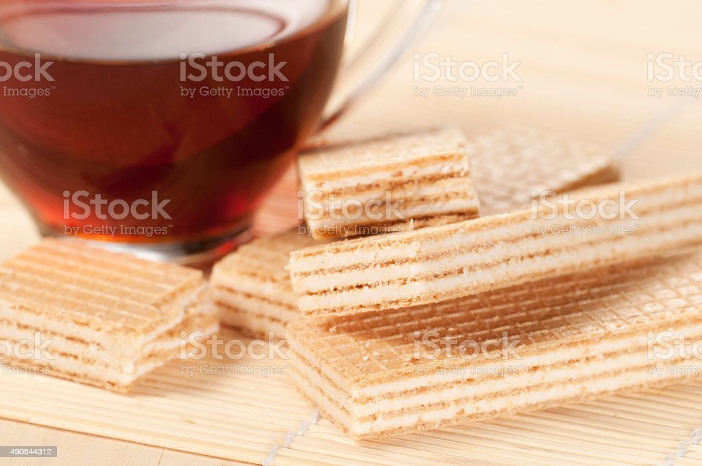 Sandwiched wafers stock photo