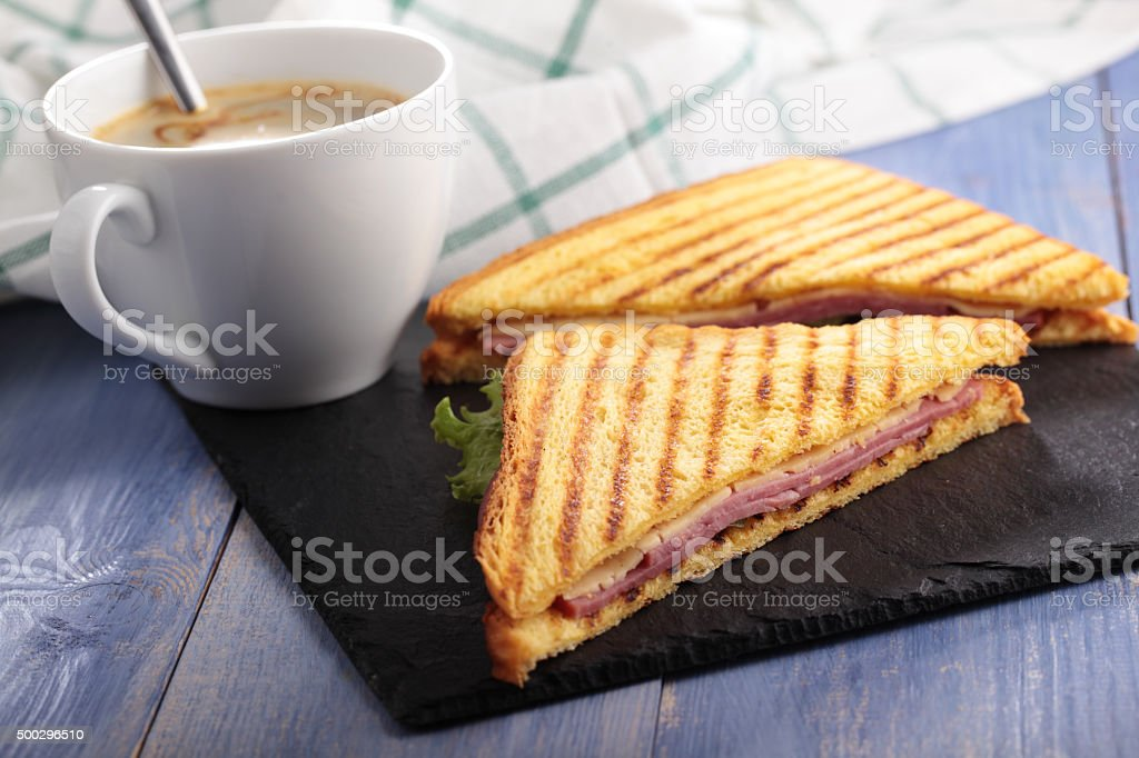 Sandwiches and coffee