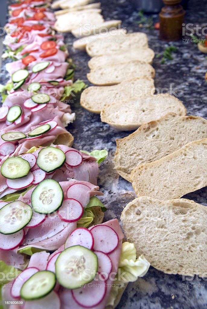 sandwiches for party guests royalty-free stock photo