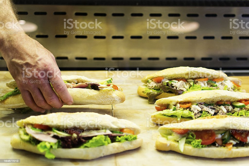 Sandwiches for sale royalty-free stock photo