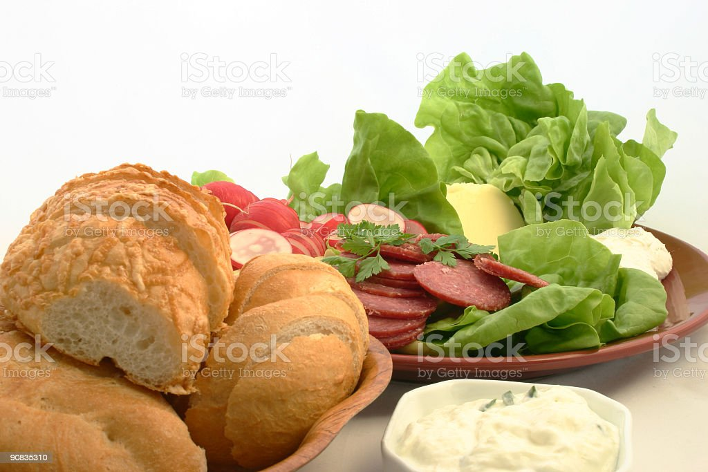 Sandwiches will be prepared in just a moment royalty-free stock photo