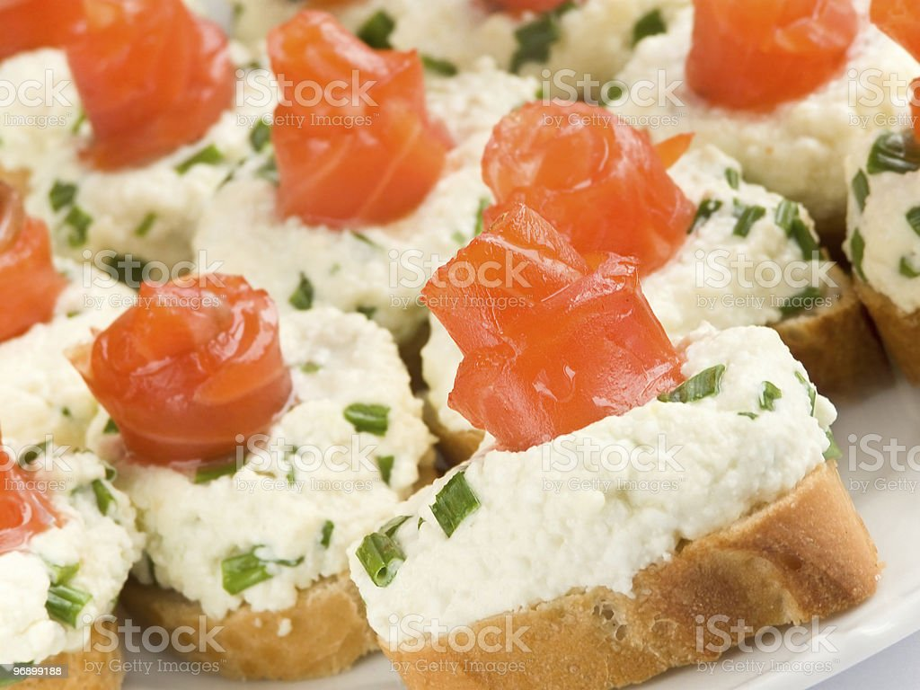 Sandwiches with smoked trout royalty-free stock photo