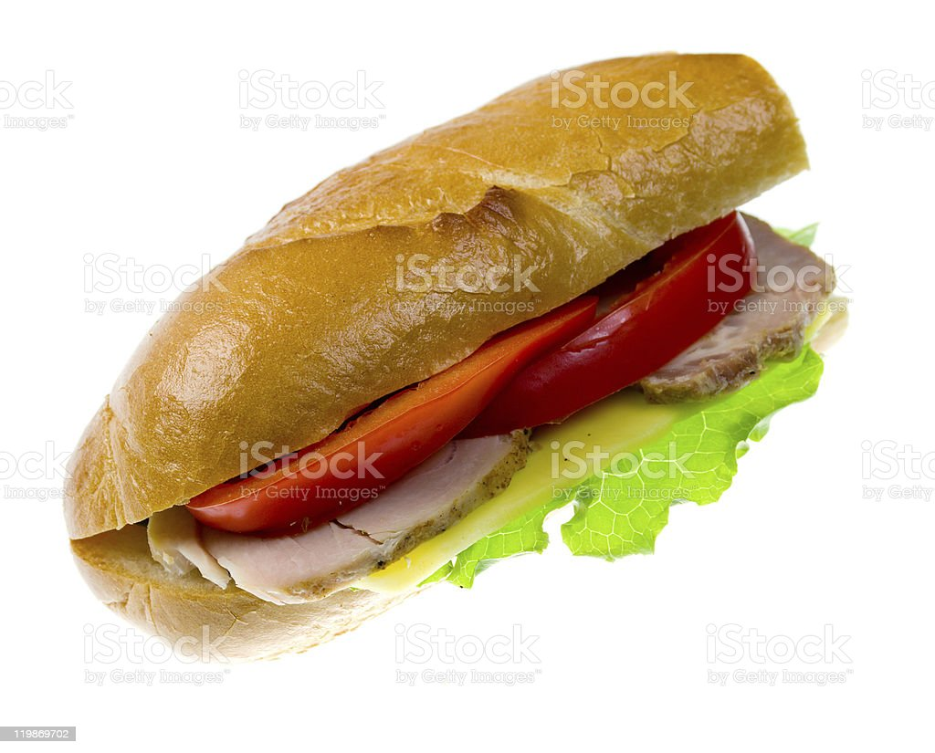 sandwiches with vegetable and ham royalty-free stock photo