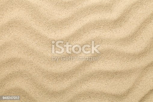istock Sandy Background. Sand Beach Texture for Summer 945247012