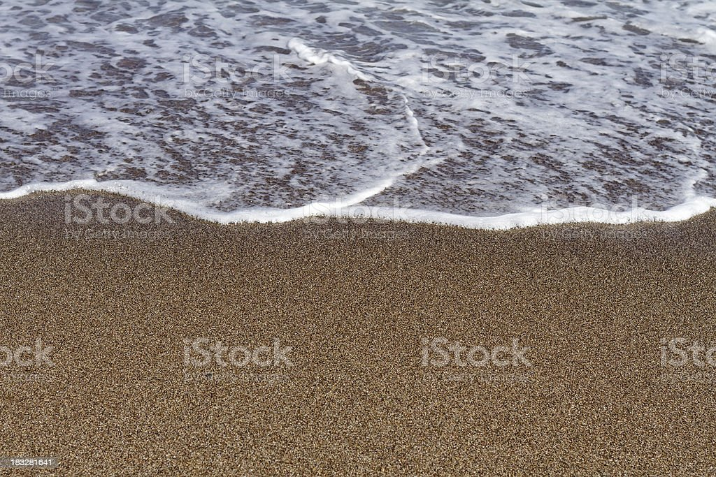 Sandy Beach and Surf royalty-free stock photo