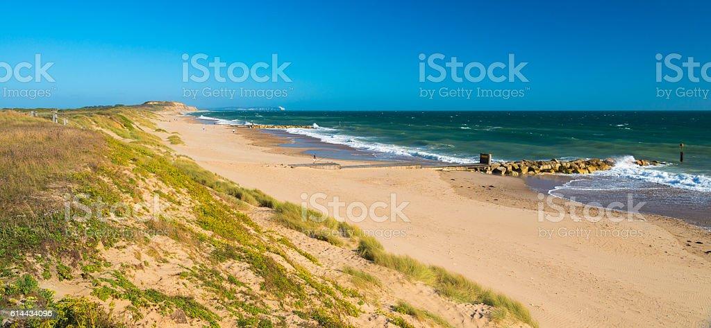 Sandy beach at Hengistbury Head Dorset England near Bournemouth stock photo