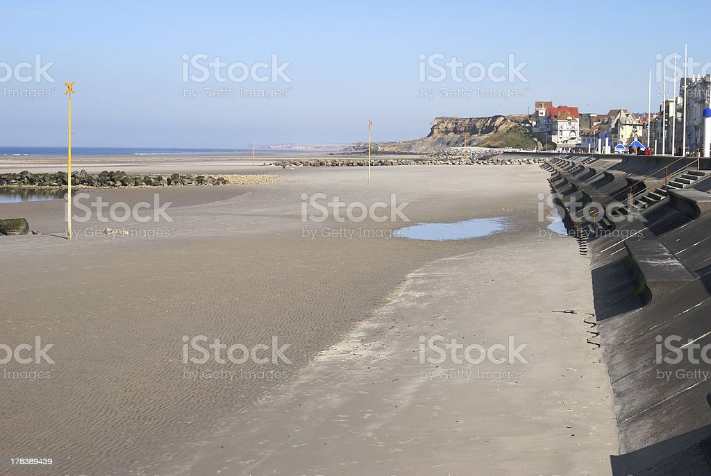 Plage de sable fin au Wimmereux. Près de Boulogne. La France - Photo