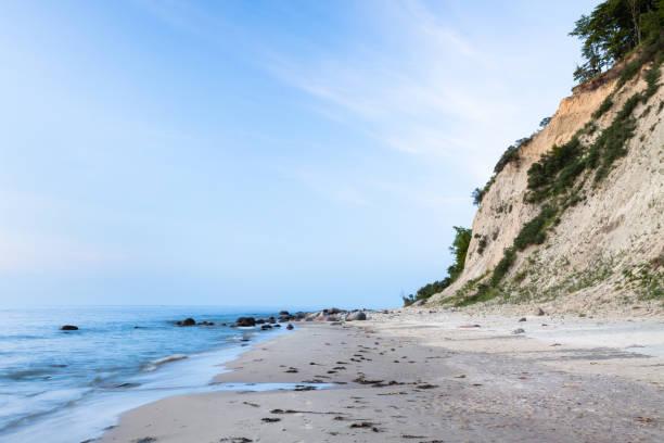 Sandy beach background. stock photo