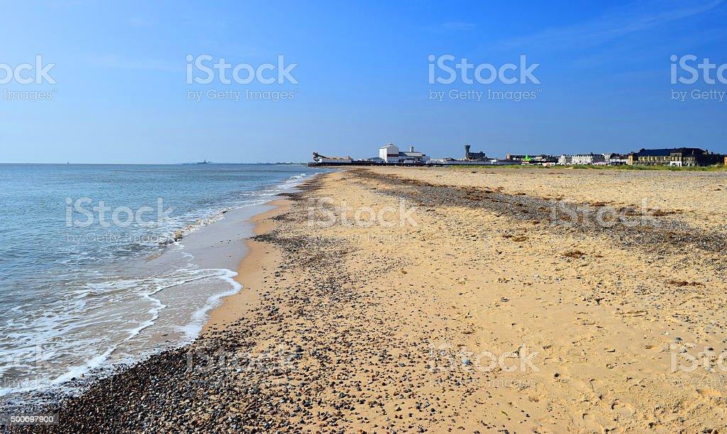 Sandy Beach by Yarmouth stock photo