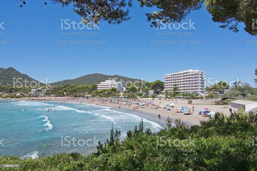 Sandy beach Canyamel Mallorca royalty-free stock photo