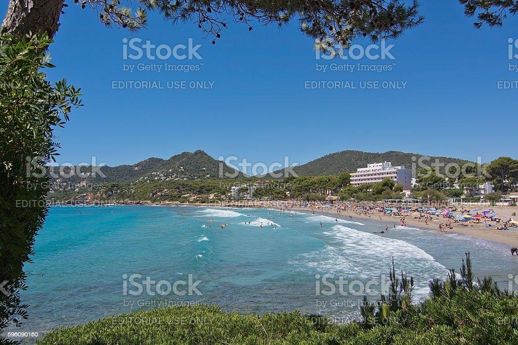 Sandy beach Canyamel Mallorca royalty-free stock photo