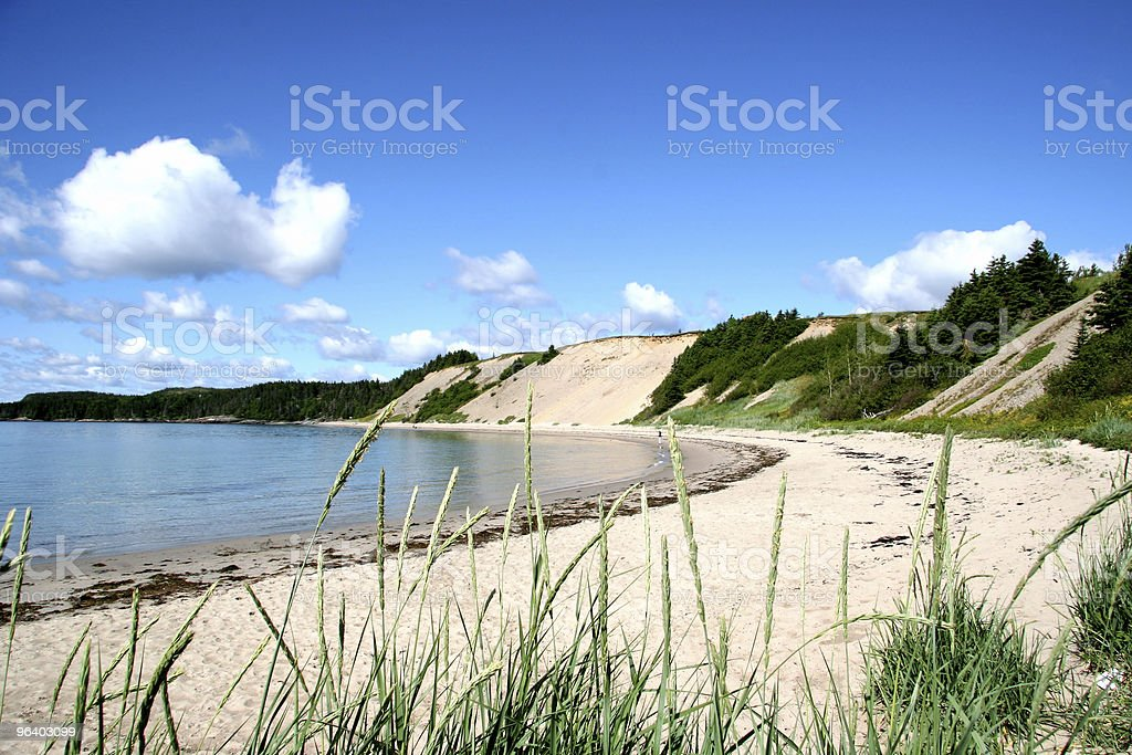 Sandy Beach in Rural Newfoundland - Royalty-free Bay of Water Stock Photo