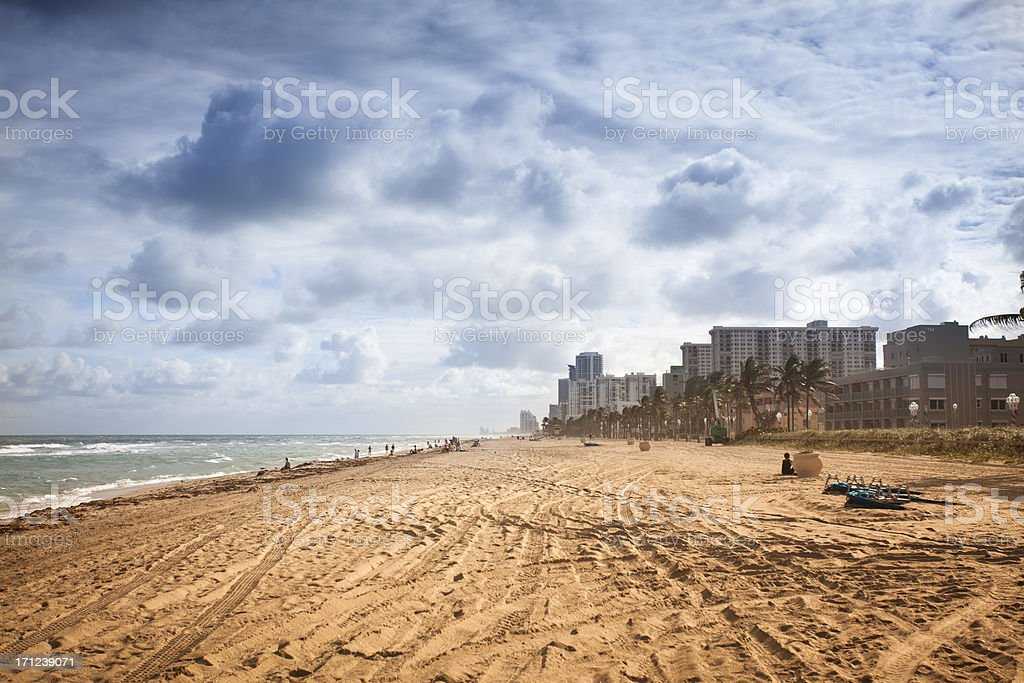 Sandy beach of Fort Lauderdale royalty-free stock photo