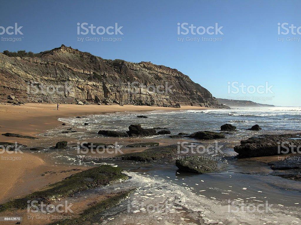 Sandy beach. royalty-free stock photo