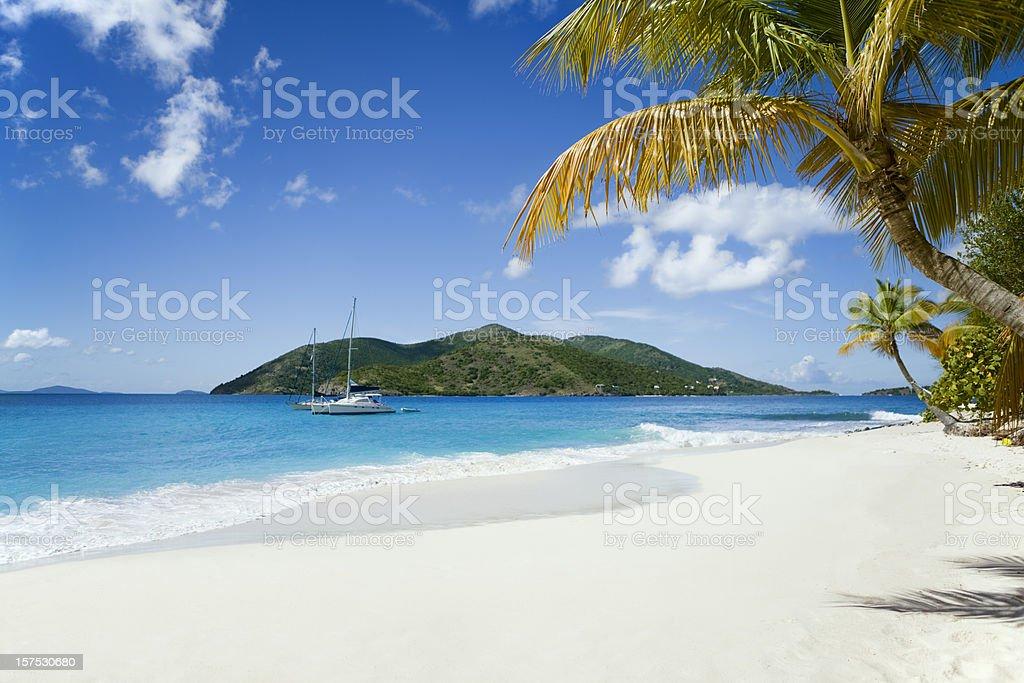 Sandy Cay, BVI - beautiful island in the Caribbean royalty-free stock photo