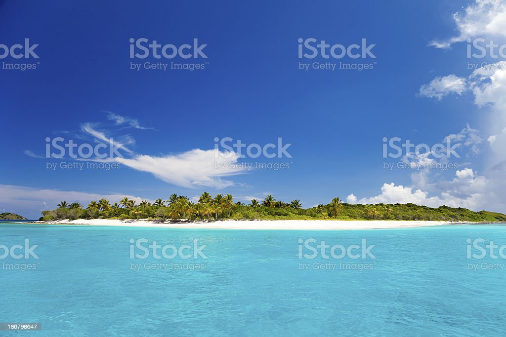 Sandy Cay, BVI - small island in the Caribbean royalty-free stock photo
