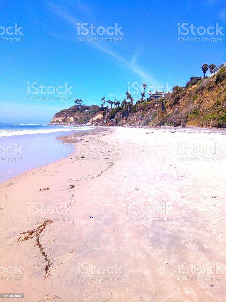 Costa de areia - Foto de stock de Areia royalty-free