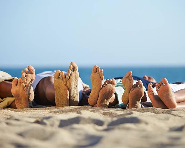 Sandy feet stock photo