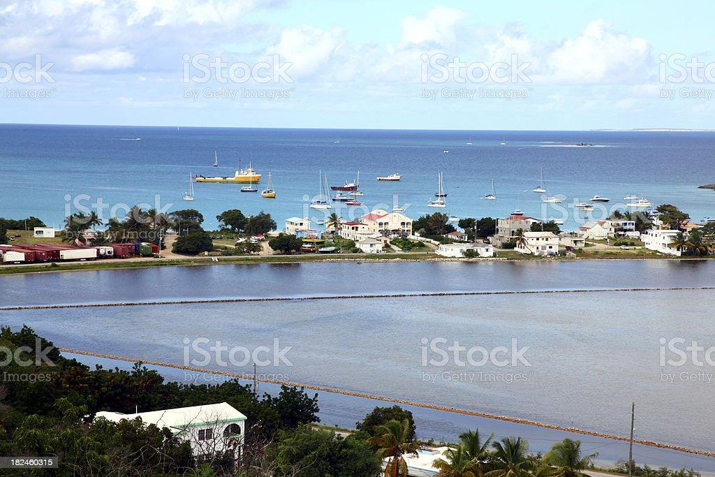 Sandy Ground Anguila foto royalty-free