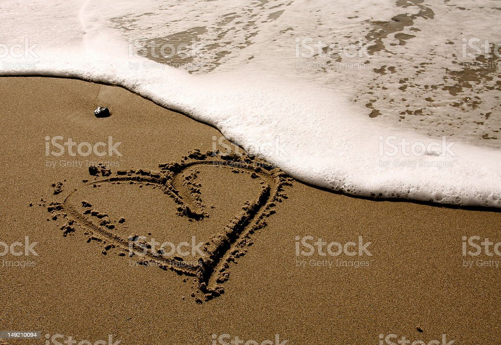 Sandy Heart stock photo