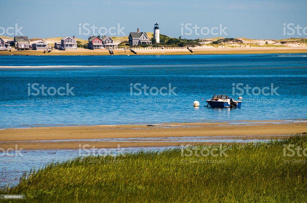 Sandy Neck Lighthouse stock photo